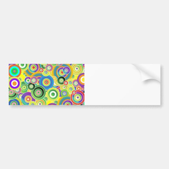 Circles of Colors Bumper Sticker