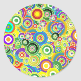 Circles of Colors Classic Round Sticker