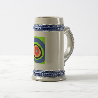 circles of colors design beer stein