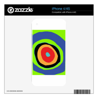 circles of colors design iPhone 4S decal