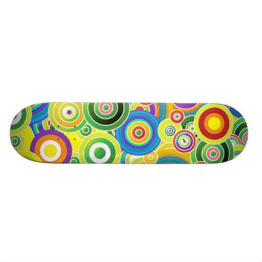 Circles of Colors Skate Board