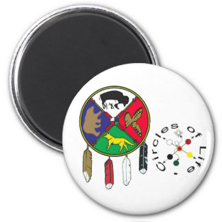 Circles of Life + Medicine Wheel Combo 2 Inch Round Magnet