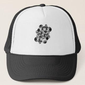 circles of metal trucker hat
