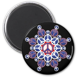 CIRCLES OF PEACE 2 INCH ROUND MAGNET