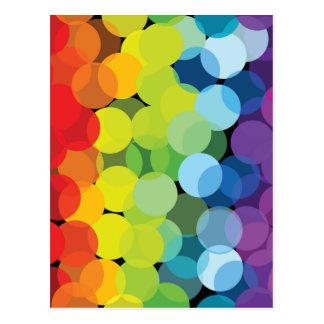 Circles of Rainbows Note Card