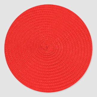 Circles of Red Background Classic Round Sticker