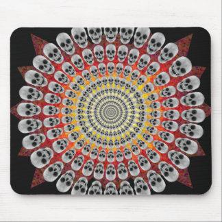 Circles of Skulls & Fire Graphics: Custom Mousepad