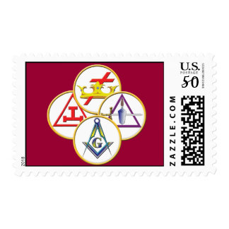 Circles of the York Rite Postage