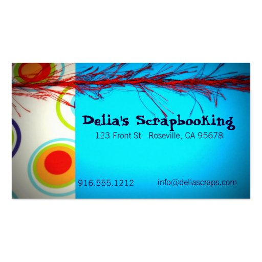 Circles on Blue Business Cards