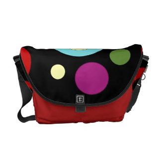Circles on Midnight Rickshaw Messenger Bag