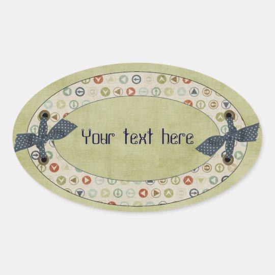 Circles Oval Sticker