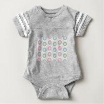 circles pattern baby bodysuit