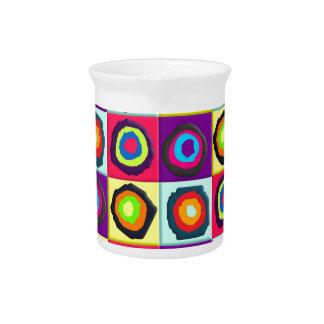 circles pattern beverage pitcher