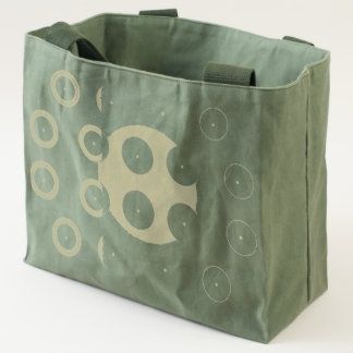 Circles pattern canvas utility tote