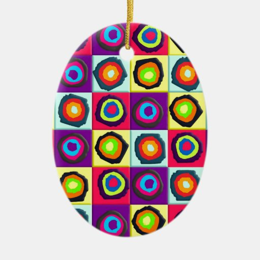 circles pattern christmas tree ornaments