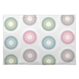 circles pattern cloth placemat
