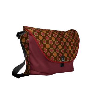 circles pattern messenger bag