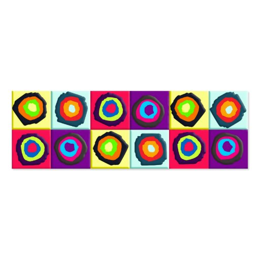 circles pattern mini business card