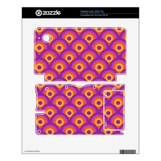 Circles pattern skin for nintendo DSi XL