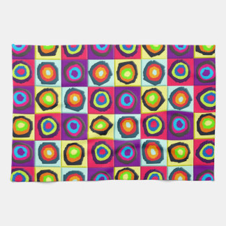circles pattern towel