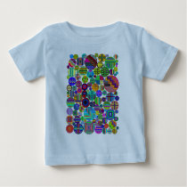 Circles PATTERNED Colorful Baby T-Shirt