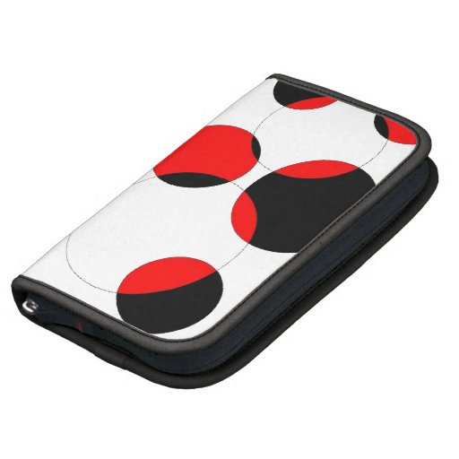 Circles, Red and Black Abstract Folio Planner