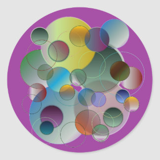 Circles, Rings, Geometric Shapes Classic Round Sticker