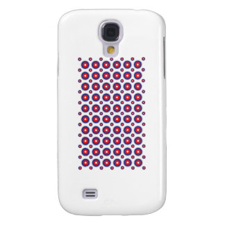 Circles, Round Background, Red & Blue, Circle Art Galaxy S4 Cover