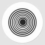 Circles Round Stickers