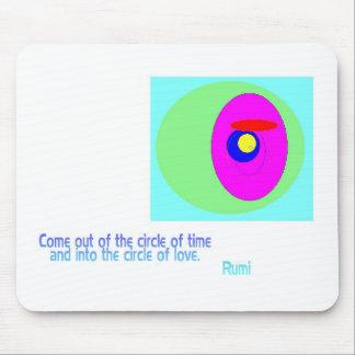 Circles Rumi Mouse Pad
