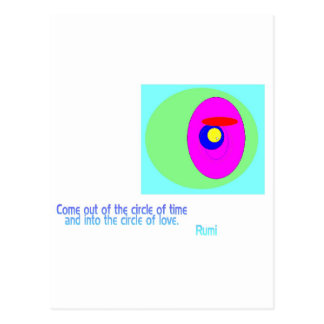 Circles Rumi Postcards