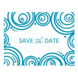 Circles Save the Date Postcard