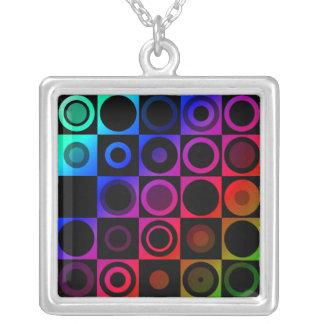 Circles Square Pendant Necklace