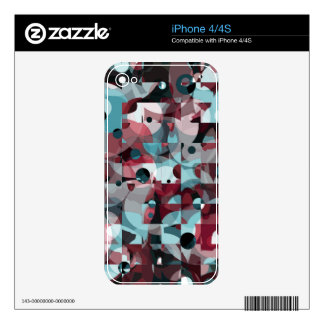 Circles Squared iPhone 4S Decal