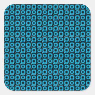 Circles Square Sticker