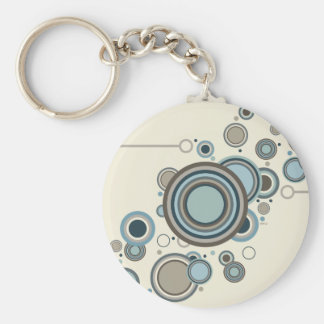 Circles Streaming Basic Round Button Keychain
