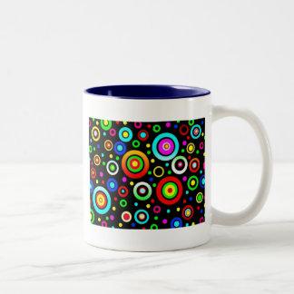 Circles Two-Tone Coffee Mug