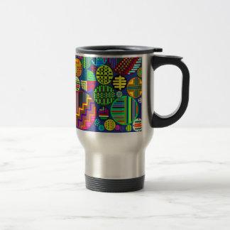 Circles with Colorful Patterns Travel Mug