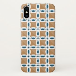 Circles with lens pattern and Diamond iPhone X Case