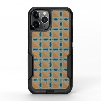 Circles with lens pattern and Diamond OtterBox Commuter iPhone 11 Pro Case