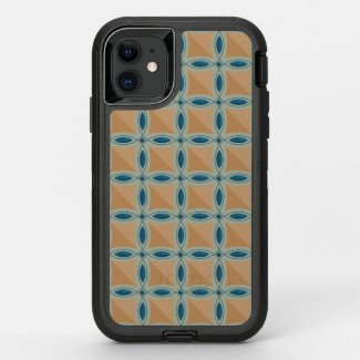 Circles with lens pattern and Diamond OtterBox Defender iPhone 11 Case