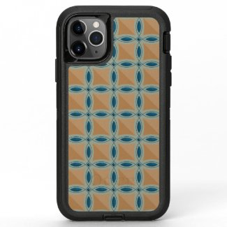 Circles with lens pattern and Diamond OtterBox Defender iPhone 11 Pro Max Case