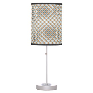 Circles with lens pattern and Diamond Table Lamp