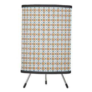 Circles with lens pattern and Diamond Tripod Lamp