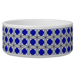 Circles Within Circles Modern Geometric Pet Water Bowl