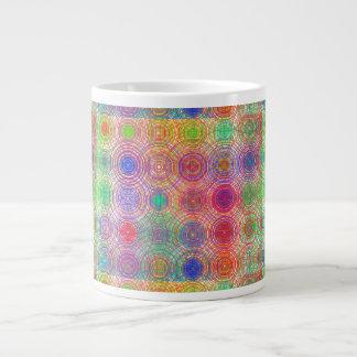 Circles Within Circles Tiled Graphic Large Coffee Mug