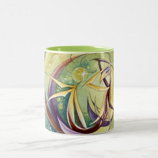 Circles Within Circles Two-Tone Coffee Mug