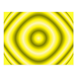 circles yellow postcard