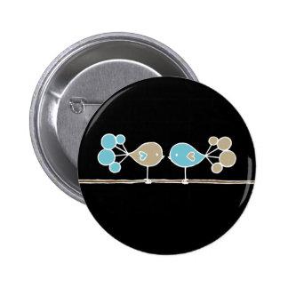 Circletail Birds Button
