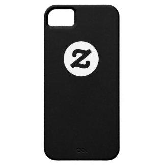 CircleZ - White on Black iPhone SE/5/5s Case